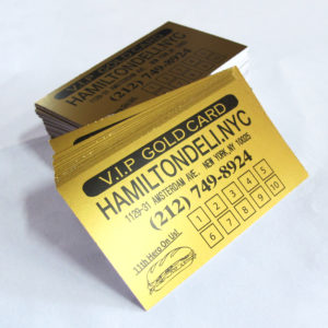 12pt gold business cards_ loyalty cards