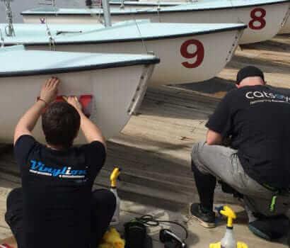 Boat, Numbers, Vinyl, Installation