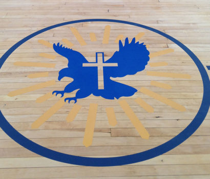 Gym Wall, Floor, Vinyl, Decal