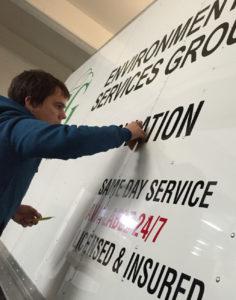 install car lettering vinyl