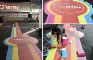 installation pavement graphics