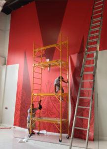 installation wall wrap