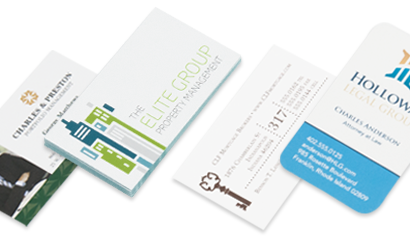 Offset Printing Business Cards, Rounded Business Cards, Edge Painted Cards