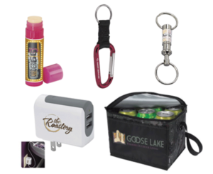 promo products_ charger_ keycahin_ cooler_ lip balm