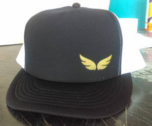 screen printing_ hat_ metallic gold ink_ specialty ink_ glitter