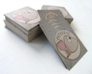 square cards_ kraft business cards