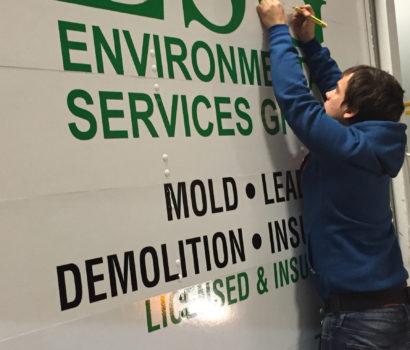Truck Decals, Installation