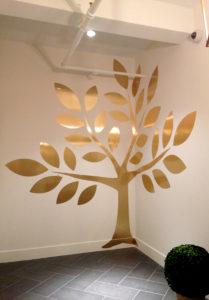 wall wrap_ vinyl_ wall art_ chrome gold