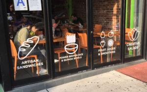 window vinyl_ cut vinyl_ restaurant